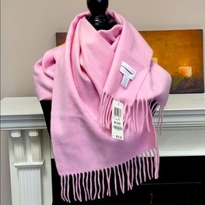 NWT 💯% Cashmere Dusty Pink Oversized Scarf